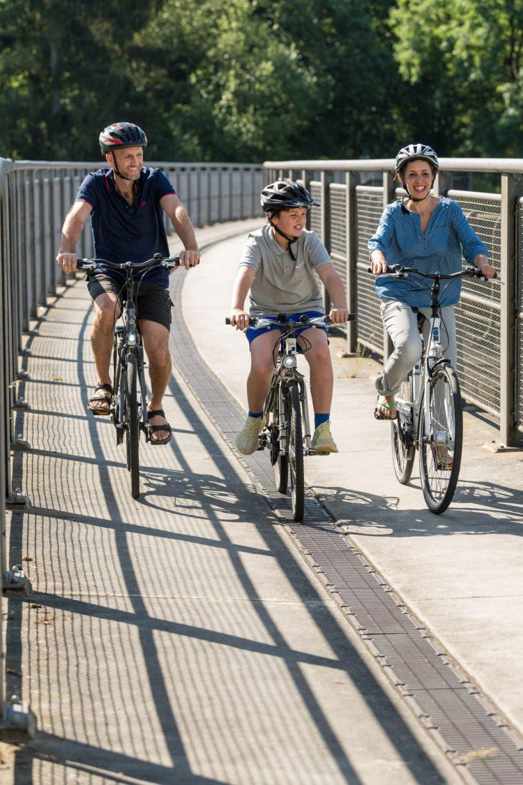 Radfahren über den Maare-Mosel-Radweg