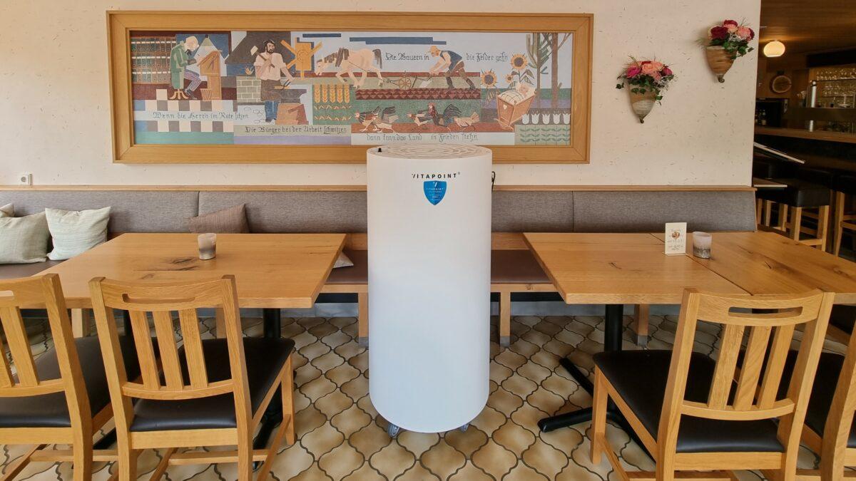 Leistungsstarke Luftreiniger in unseren Gasträumen